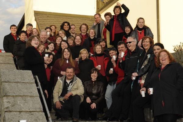Gruppenfoto der Flames of Gospel